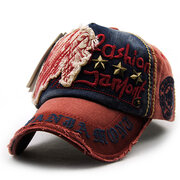 Men Women Vintage Cotton Washed Embroidery Baseball Cap Adjustable Golf Snapback Hat