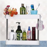 Stainless Steel Double Deck Bathroom Storage Rack Home Multifunctional Two layer