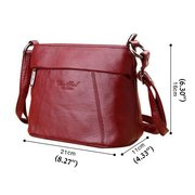 Women Genuine Leather Cube Crossbody Bag Shoulder Bags