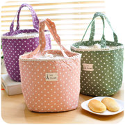 Hand-held Lunch Tote Bag Folding Picnic Cooler Insulated Handbag Storage Containers