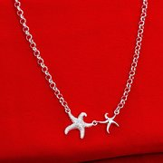 YUEYIN® Silver Plated Starfish Necklace Simple Cute Gift for Women