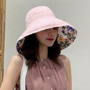 Women Foldable Double-sided Wear Vogue Sun Bucket Hat Summer Outdoor Travel Beach Sea Cap