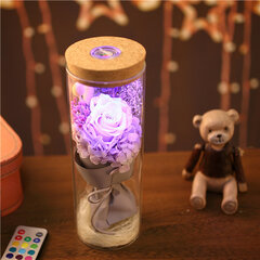 Everlasting Flower Wishing Bottle Luminous Glass Cover Creative Gift Valentine's Day