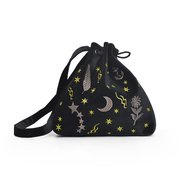 Women Velvet String Galaxy Pattern Shoulder Bag