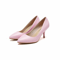 Lady Candy Office Office Pointed Toe Slip sulle pompe sottili Heel