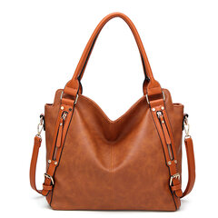 Vintage PU Leather Multi-color Handbag Shoulder Bags Crossbody Bags For Women