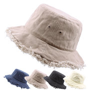 Spring Summer Unisex Monochrome Fisherman Hat Lady Outdoor Travel Big SunShade Hat Folding Cap