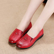 Splicing Leather Vintage Soft Loafers Flat Shoes
