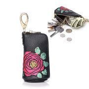 Portafoglio portamonete da donna con portachiavi vintage da Vera Pelle