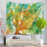 Mandala Watercolor Life of Tree Printing Tapestry Wall Hanging Tapestry Home Living Room Art Decor