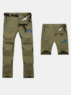 Mens Spring Summer Outdoor Thin Detachable Water-repellent Breathable Sport Pants