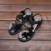 Butterfly Solid Buckle Waterproof Sandals