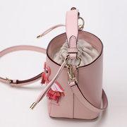 Women Flamingo Stylish Crossbody Bag PU Leather Bucket Bag Casual Shoulder Bag