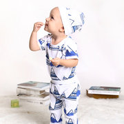 3Pcs Print Newborn Baby Boys Outfits Set For 0-24M