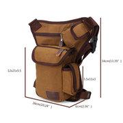 Outdoor Canvas Drop Taille Bein Taschen Hüfttasche Tasche Gürtel Fahrrad und Motorrad Für Männer