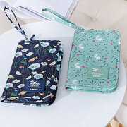 Nylon Passport Holder Document Sorage Bag Cartoon Multi-function Ticket Holder Wallet