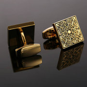 French Shirt Men Jewelry Unique Wedding Groom Men Cuff Links Business Gold Cufflinks For Mens