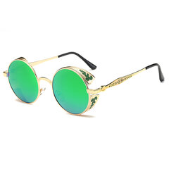 Mens Womens HD Polarized UV Protection Punk Sunglasses Fashion Outdoor Travel Round Sunglasses