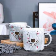 Cute Cat Claw Pattern Painted Mug Ceramic Coffee Mug Tea Cup High-temperature Resistant Cup