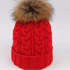 Pure Color Ski Slouch Fur Pompon Ball Beanie Beret Sombrero Crochet tejer gorras gruesas
