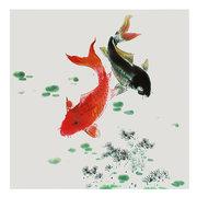 3 قطع غير المؤطرة كوي الأسماك قماش النفط الطلاء ديكور المنزل