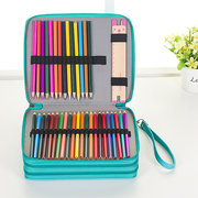 120 Slots Pencil Case Stationery Cosmetic Makeup Pouch Zipper Bag