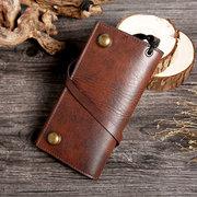 Men Trifold Long Wallet Card Holder Clutch Bag