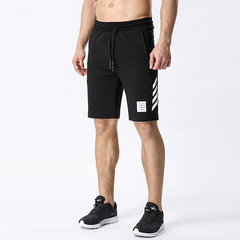 Mens Casual Athletic Sport Wear Zippered Pockets Elastic Waist Drawstring Breathable Cotton Shorts