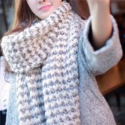 Women Lady Long Wool Warm Knit Scarf Shawl Thick Winter Neck Scarves