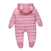 Cute Bear Cartoon Shape Baby Down Jumpsuit Outerwear For 3-18M