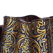 Brenice Sac à Dos Femme en Cuir Véritable Sac Porté Épaules Vintage en Relief
