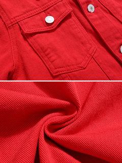 Veste courte en jean à manches longues
