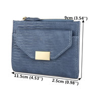 Women Bifold PU Leather Short Wallet Solid Coin Purse