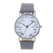 Fashion Casual Watches Women Lovely Cat Leather Watch Quartz Wrist Watch