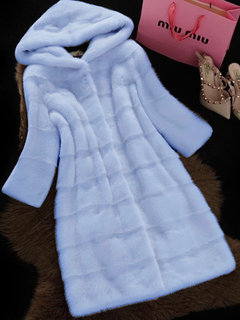 Warm Winter Solid Color Hooded Faux Fur Coat