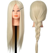30% Blonde Real Human Hair Training Hairdressing Mannequin Head With Clamp