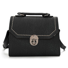 Women Stylish Stone Modello Spin serratura Handbag Shoulder Borsa Crossbody Borsa