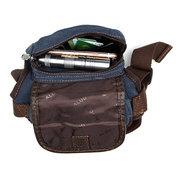 Vintage Canvas Sport Leg Borsa Casual Outdoor vita Borsa Multi Pocket Solid Borsa per gli uomini