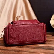 Retro Women PU Leather Pure Color Shoulder Bag Crossbody Bags
