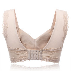Comfy Solid Color Lace-trim Wireless Full Cup Sleeping Bra