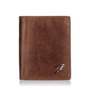 Portefeuille multifonctionnel rétro en cuir véritable Sacs décontractés pour hommes