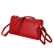 Women Three-layers Leather Phone Bag Shoulder Bags Crossbody Bags