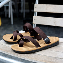 Men Hook Loop Roman Sandals Soft Water Beach Flip Flops