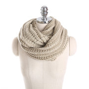 Winter Thicken Knitted Scarves Collar Neck Warmer Woman's Mixed Colors Crochet Ring Scarf