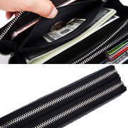 RFID Men And Women Genuine Leather Wallet 24 Card Slot Multi-function Phone Purse Solid Coin Bags