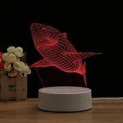 Hai 7 Farbe 3D LED Touch Control Lampe Geburtstag Geschenke Nachtlicht Schlafzimmer Wohnkultur