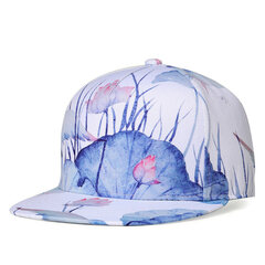 Unisex Cotton 3D Lotus Printing Graffiti Baseball Caps Hip Hop Adjustable Snapback Hat