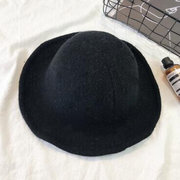 Mujer Foldable Winter Warm Soft Elegante peludo de punto superior Sombrero Casual Wild Party Bucket Cap