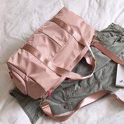 Damen Solide Nylon Sporttasche Yoga Fitness-Tasche Reisetasche mit großer Kapazität