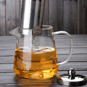 Borosilicate Glass Teapot With 304 Stainless Steel Infuser Strainer Heat Coffee Tea Pot